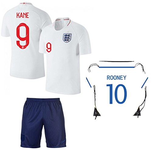 England Harry Kane #9 Soccer Jersey Kids Youth Sizes Football World Cup Premium Gift ✓ BONUS Premium Gift Soccer Backpack (YM 8-10 Years, (England Soccer Kit)