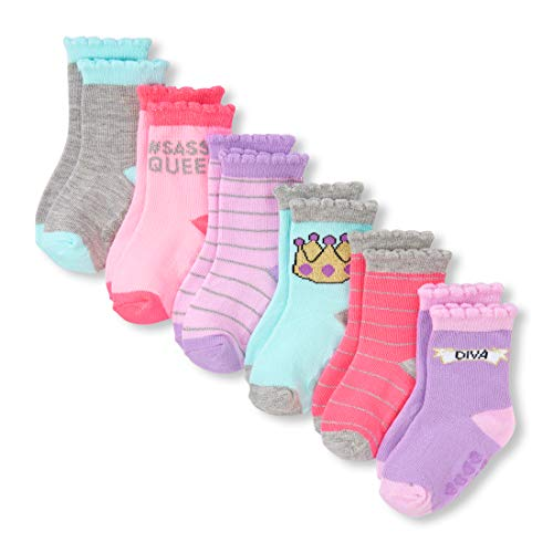 - The Children's Place Baby Girls 6 Pack Midi Socks, Multi CLR, 3T-4T