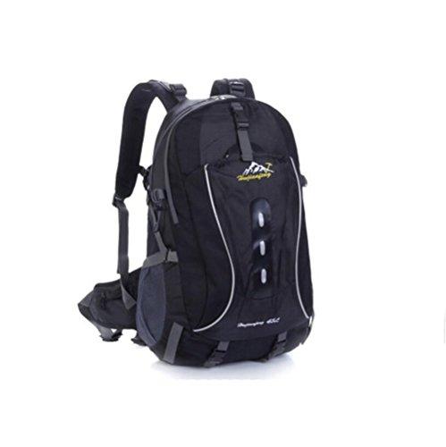 Wmshpeds Excursión de montañismo bolso exterior hombres y mujeres mochila camping caballo paquete de gran capacidad 45L G