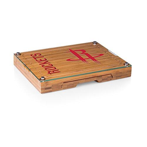 NBA Houston Rockets Concerto 5-Piece Cheese Board Serving Set (Glasses 1 Houston Hour)