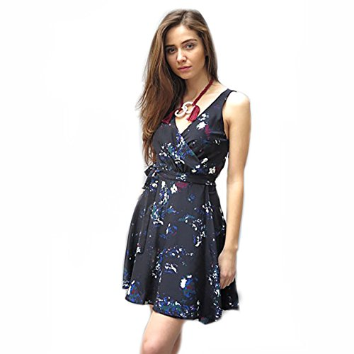 202c04e019f3c Amour Vert Womens Brandy Silk Wrap Dress Celestial Large
