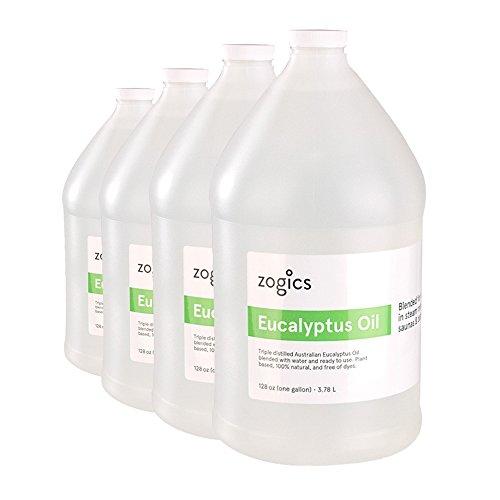 Zogics Eucalyptus Steam Room Spray (4 Gallons/Case) (Best Oil For Steam Room)