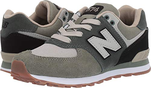New Balance Boys' Iconic 574 Sneaker Faded Rosin/Black 2 W US Little - Wide Balance New Shoes Boys