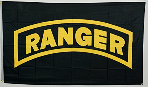 (3x5 U.S Army Ranger US Flag Super Polyester Nylon Flag 3'x5' House Banner 90cm x 150cm Grommets Double Stitched Premium Quality Indoor Outdoor Pole Pennant)