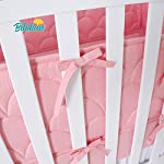 Crib-Bumpers-Pads-for-Baby-Breathable-Machine-Washable-Baby-Crib-Bumper-Liners-for-Girls-Safe-Soft-Baby-Crib-Padding-4-PiecesSet-Pink