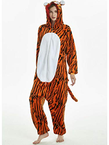 iSZEYU Adult Onesie for Women Halloween Costumes Men Teens Girls Animal Pajamas
