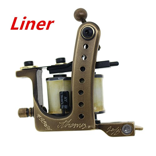 Coil Tattoo Machine Handmade Tattoo Gun 8 Wrap Coils for Liner From Thomas(Liner) ()