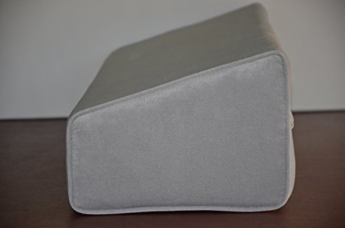 Wedge Bolster with Cover (Antique Velvet Silver Grey)