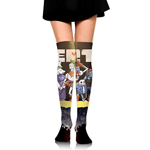 Funny Novelty Colorful Undertale_Main_Cast Cotton Over The Knee 3D Print Long Socks For Unisex With Designs