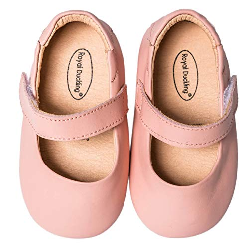 - Kinkie Baby Girls Boys Leather Mary Jane Walking Shoes Prewalker Princess Wedding Dress Shoes Ballet Flats,Pink 18-24 Months/18