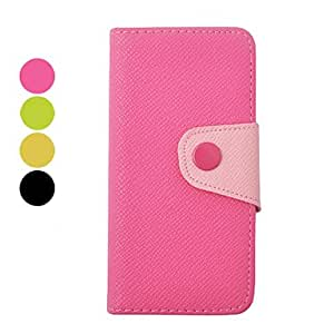 Procesamiento de dos días -Doble del color dentro como fuera de cuero de la PU caso de cuerpo completo para iphone 5/5s,Green