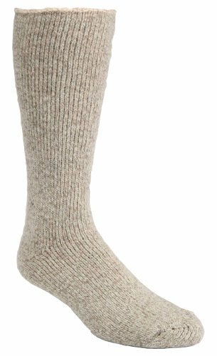 Below Knee Socks (J.B. Icelandic -50 Below Ice Sock (Knee Length, Extra Warm Wool Cushion) (Large (8-12 Shoe), Beige))