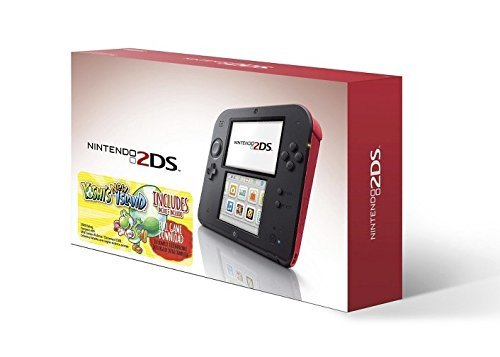 Nintendo 2DS Red Console with Yoshi's New Island Game (Ds Yoshis Nintendo Island)