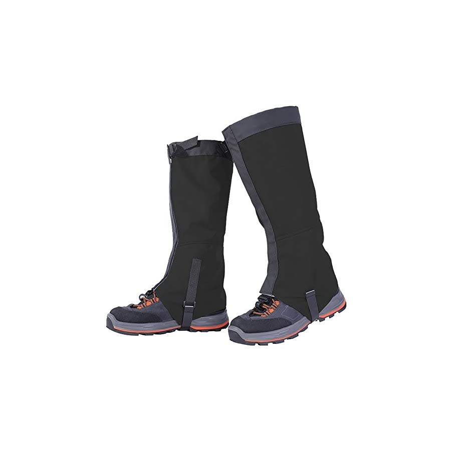 WATERFLY Durable Breathable Waterproof Ski Snow Climbing Hunting High Leg Gaiters for Men and Women