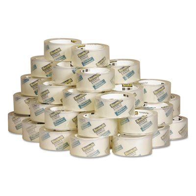 Scotch Moving & Storage Tape Premium Thickness, 1.88'' x 60 yds, 3'' Core, Case Pack of 36, Clear (363154CS36)