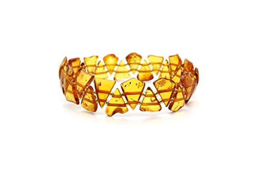 - Genuine Natural Baltic Cognac Amber Stretch Bracelet For Women