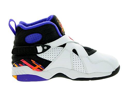Jordan Nike Børn 8 Retro Bp Basketball Sko Hvid / Infrarødt 23- Sort-lyse Cncr nBkdCGxHT