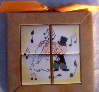 Chocolate Puzzle Wedding Favors - First Dance by Escape Concepts