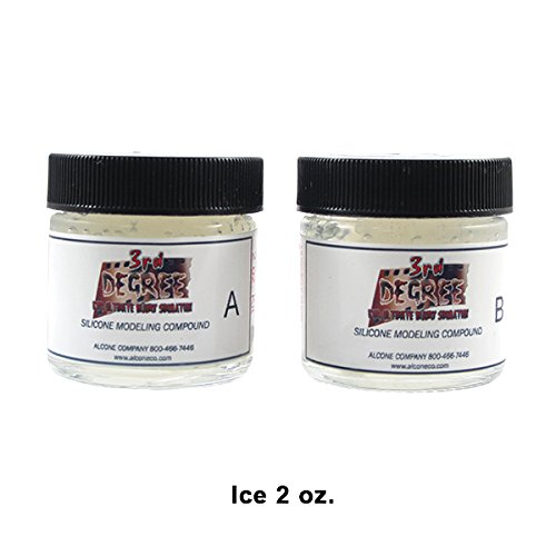 3rd Degree Silicone Molding Compound Wound Scar Prosthetic SFX Simulation, Ice 2oz - 3rd Degree Makeup