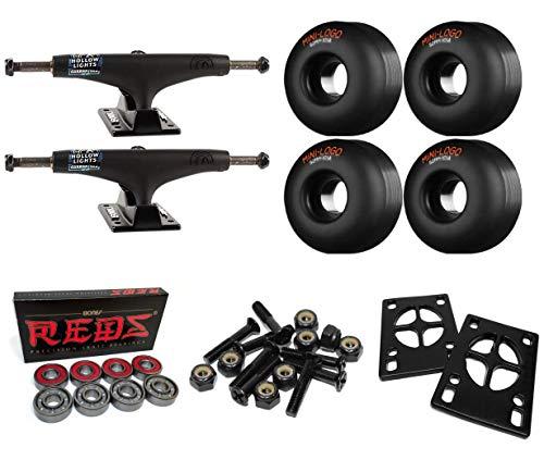 Pads Riser Black - Thunder Trucks 147mm Night II Hollow Lights Skateboard Trucks/52mm Mini Logo/Bones Bearings/1