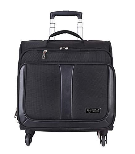 Herman Hansen Nylon Overnighter Luggage  Black, 16 Inches