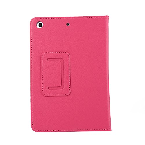 TechCode Samsung Tablet 10.1 Case, Premium Folio Book Cover Design Multi-Angle Viewing Slim-fit Lightweight Stand Smart Protective for Samsung Galaxy Tab A 10.1 2016 Tablet SM-T580/SM-T585 (Hot Pink)