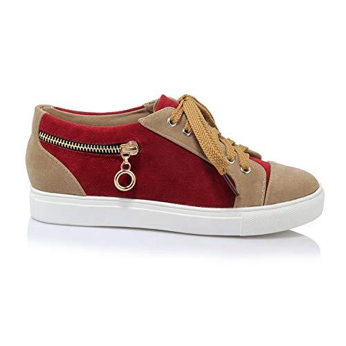 Womens AdeeSu Urethane Zipper Seams SDC05883 Shoes Walking Red Colors Frayed Assorted qUTSrCdU