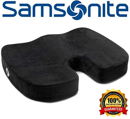 Samsonite SA5450 \ Orthopedic Cushion \ Helps Relieve Pain \ 100% Pure Memory Foam \ Fits Most Seats (Memory Phone Seat Cushion)