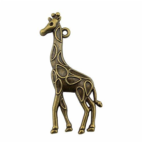 Bronze Giraffe Charm