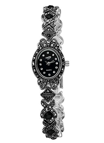 Oval Black Face Watch - 3