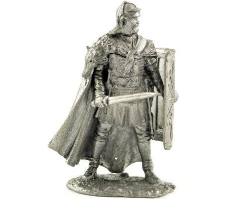 Roman legionnaire at the German border 2-3 centuries metal sculpture. Collection 54mm (scale 1/32) miniature figurine. Tin toy soldiers ()