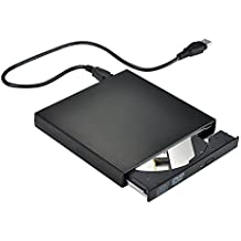 VicTsing Upgraded External CD Drive, Portable External CD-RW Drive DVD-R Combo Burner Player Writer for Laptop Notebook PC Desktop Computer, Black