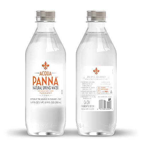 Acqua Panna Natural Spring Water, 16.9 Fl. Oz. Plastic Bottles, Pack of 24
