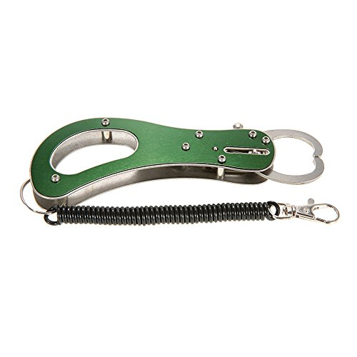 Green Portable Lightweight Stainless Steel Fish Lip Grip Compact Mini Fish Lip Gripper Grabber Grab Clip Tool Fishing Tackle
