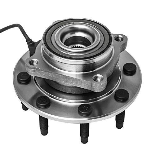 (Front Wheel Hub and Bearing Assembly Left or Right Compatible Chevrolet Avalanche Silverado Suburban GMC Sierra Yukon XL Hummer H2 1500 2500 3500 HD Classic AUQDD 515058 [ 8 Lug W/ABS ])