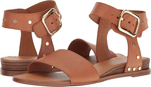 Leather 2 Strap Sandals (Franco Sarto Women's Park 2 New Tan Vachetta Leather Sandal)