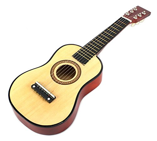 Velocity-Toys-Acoustic-Classic-Rock-N-Roll-6-Stringed-Toy-Guitar-Musical-Instrument-w-Guitar-Pick-Extra-Guitar-String-Natural