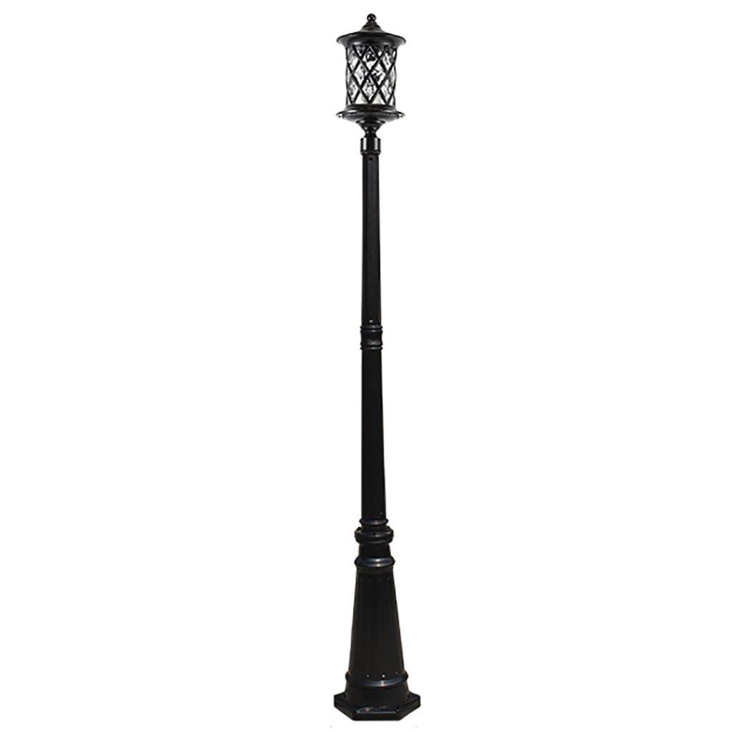 ti aspetto Retro luci luci luci impermeabili luci del giardino esterno del giardino barra alta navata Park Lawn Luce 2,1 m di altezza in bronzo nero Luci per sentieri (colore   nero)  Offriamo vari marchi famosi