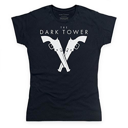 Official The Dark Tower Silver Pistols Camiseta, Para mujer Negro