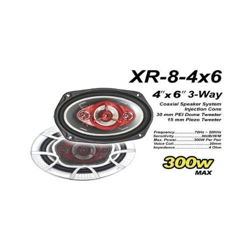 Xplore Tech 4''x6'' 3-Way Coaxial Speaker System [Electro...