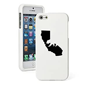 Apple iPhone 5c Snap On 2 Piece Rubber Hard Case Cover Cali Bear California (White)