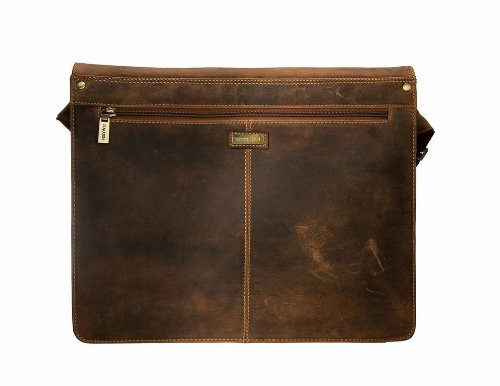 Visconti Visconti Leather Distressed Messenger Bag Harvard Collection, Tan, One Size by Visconti (Image #1)