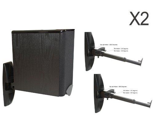Heavy Duty Wall Mount Brackets For BookShelf Speakers Pair Black Amazonca Electronics