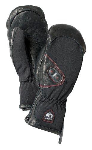 Hestra Heated Gloves: Waterproof Power Heater Cold Weather Ski Gloves, Black, 9