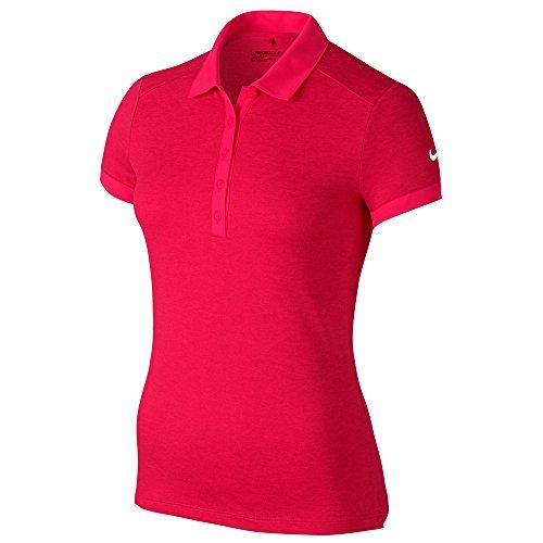 (Nike Icon Heather Golf Polo 2017 Women Siren Red/Heather/White Small)