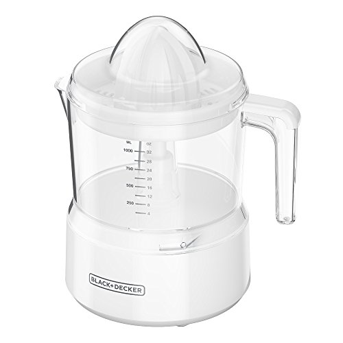 BLACK+DECKER CJ650W Citrus Juicer with 32-oz. Capacity, White