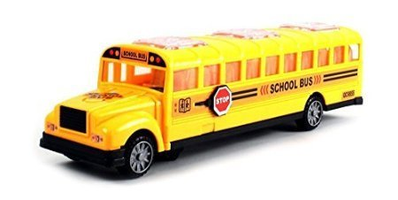 Dubblebla Deluxe Children's Kid's School Bus Battery Operated Bump & Go Toy Bus w/ Fun Sounds, Flashing Lights, Music ()