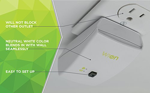 Woods WiOn 50050 Indoor Wi-Fi Outlet, Wireless Switch, Programmable Timer