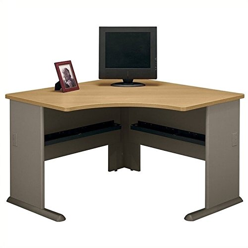 Bush Business Furniture Series A 48W Corner Desk in Light Oak and ()