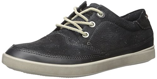 ECCO Women's Aimee Nautical Sneaker Flat - Black - 9-9.5 ...